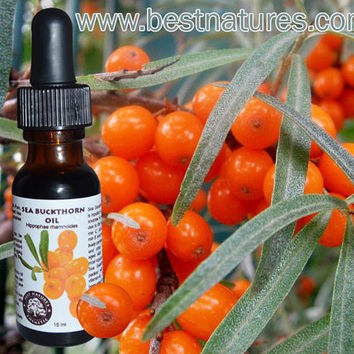 100% Pure Sea Buckthorn Fruit, Berry Oil (Cold Pressed, Unrefined, Undiluted)