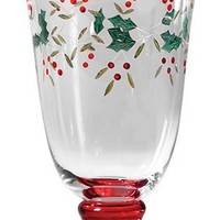 Pfaltzgraff Winterberry 14-Ounce Glass Water Goblets, Set of 4