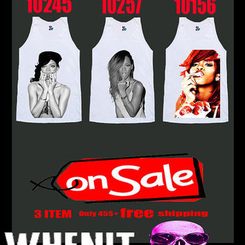 Free Shipping worldwide shipping just 7 days 3 item set of RIHANNA shirt singlet tank top 5013