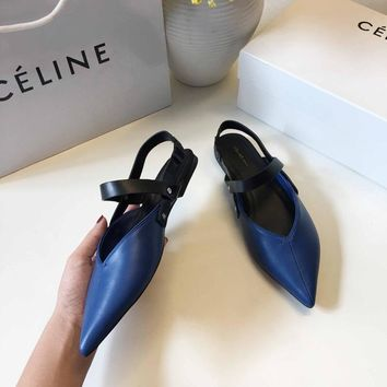 CELINE Celin 2018 spring new star net red with the same single shoes blue