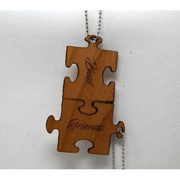 Keychain Puzzle Pieces - Best Friends KC-020 Laser Cut Custom