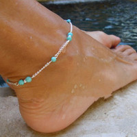 Handmade Bead Chain Anklet Foot Leg Chain Bracelet Jewelry