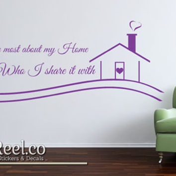 What I love most about my home is Who I share it with - Wall Sticker