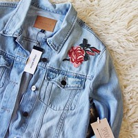 Washed & Embroidered Jean Jacket by Sanctuary