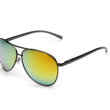 Polarized Aviator Mirrored Lens UV Protection Sun Glasses