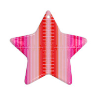 "Nina May ""Deco City Blush"" Ceramic Star Ornament"