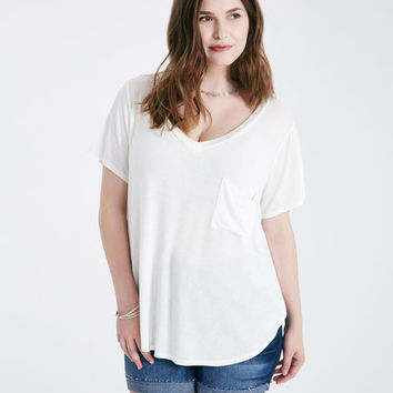 Plus Size Slouchy Pocket Tee | Wet Seal Plus