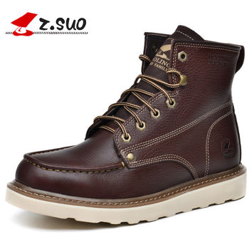 Z. Suo men 's boots, in the fall and Spring  fashion canister boots for men, the high quality brand  shoes. zapato zs16206