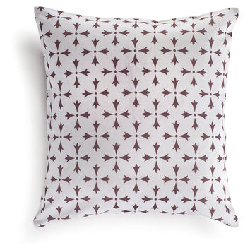 Rhodes 16x16 Cotton Pillow, Eggplant, Decorative Pillows