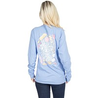 Sugar and Spice Long Sleeve Tee in Polar Blue by Lauren James - FINAL SALE