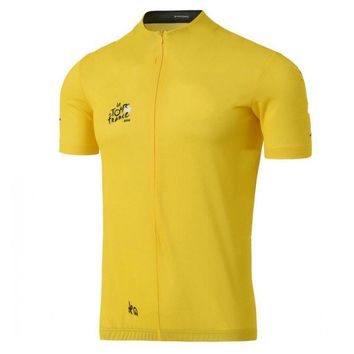 2017 tour de france yellow green cycling jerseys summer Short sleeve racing bike clothing MTB Ropa Ciclismo Bicycle maillot only
