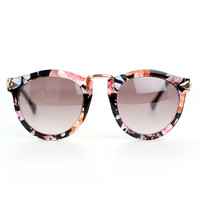 Chicwish Multi-Color Sunglasses with Metal Detail Black