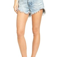 One Teaspoon Outlaws Denim Shorts (Blue Hart) | Nordstrom