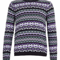 Multi Colour Aztec Sweater - Sale