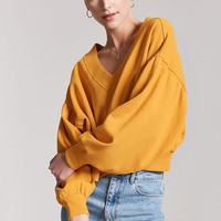 Balloon-Sleeve Sweatshirt