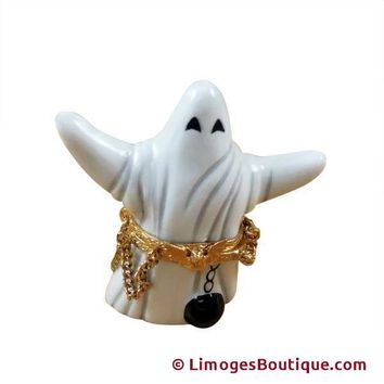 Halloween Ghost Boo Rochard Limoges Porcelain Box LIMOGES BOX