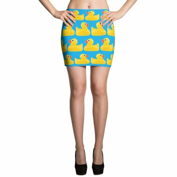 Rubber Duck Skirt - Rubber Ducks - Duck Costume - Patterned Rubber Duck Skirt - Womens Duck Skirts - Duck Skirts - Summer Skirt