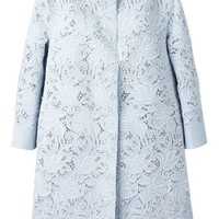 Ermanno Scervino Embroidered Floral Lace Coat - Al Ostoura - Farfetch.com