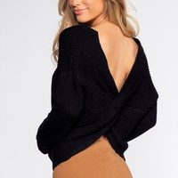 Twist And Shout Sweater - Black
