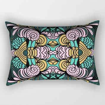 Ornamental Rectangular Pillow by duckyb