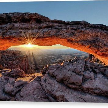 Mesa Arch Sunburst - Canvas Print