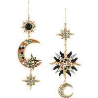 Roberto Cavalli Moon And Stars Mismatched Earrings - Farfetch