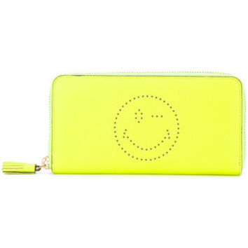 Anya Hindmarch Perforated Wink Detail Zip Purse - Farfetch