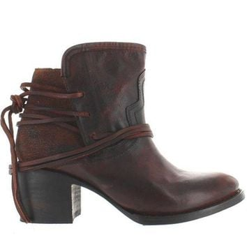 Freebird Casey   Brown Leather Pull On Bootie