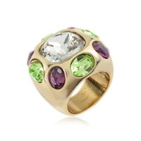AZ Collection Designer Rings Multicolor Crystal Ring