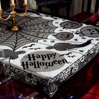 Halloween Party Decor Cobweb Tablecloth Horrible Spider Web Design Table Cover Outdoor Party Decor spoof Tablecloth LM76