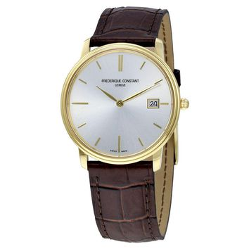 Frederique Constant Slim Line Light Grey Dial Mens Watch Fc-220nv4s5