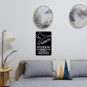 Experts Only #8 Sign Vinyl Wall Decal - Removable (Indoor)
