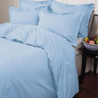 Warm Things Home 200 Egyptian Cotton Percale Duvet Cover