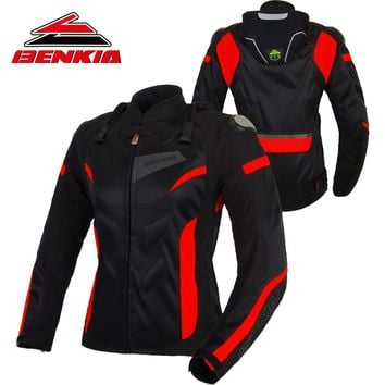 BENKIA Motorcycle Jacket Racing Motocross Moto Jacket Protective Riding Chaqueta Protection Denim Moto Jacket For Women JW-W22