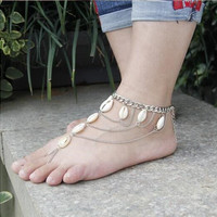 Stylish Shiny New Arrival Sexy Cute Ladies Gift Jewelry Fashion White Sea Tassels Accessory Anklet [6768758023]