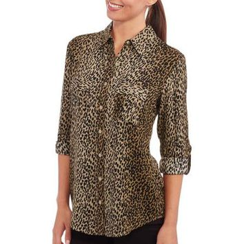 Faded Glory Women's 2-Pocket Blouse - Walmart.com