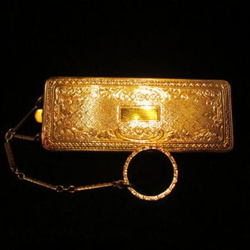 Vintage Purse Vintage Compact 1920s Compact Purse Powder Compact Du Barry Hudnut Finger Ring Compact Purse RARE EXCELLENT CONDITION