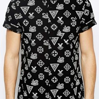 ASOS Icon Print Shirt In Short Sleeve