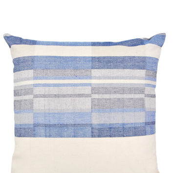 Indigo Patchwork Pillow, 19""