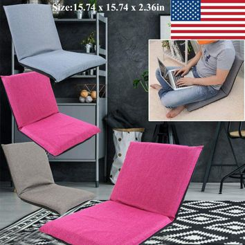 Folding 6-Position Floor Chair Gaming Chair Adjustable Lounger Sofa Lazy Seat US