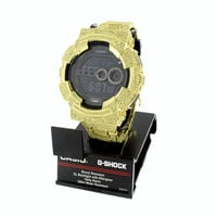 Custom G-Shock Mens Watch GD100 Simulated Diamonds Fully Iced Out Digital