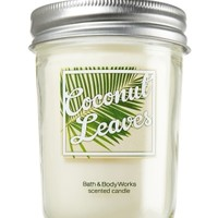 Mason Jar Candle Coconut Leaves