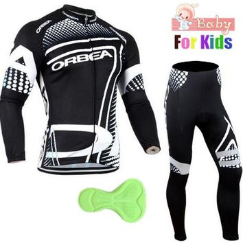 Kids 2018 ORBEA Pro Team Cycling Jersey MTB Bicycle Long Sleeve Suits Ropa Ciclismo Mountaion Bike Clothes Racing Sports Wear