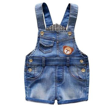 7-24 Month Baby Boy Overalls Summer Girls Denim Jeans Shorts Toddler Baby Suspender Shorts Casual Infant Jumpsuit Shorts DQ310
