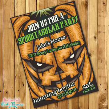 PRINTED Adult Halloween Party Invitations
