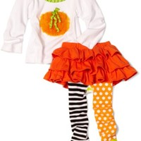 Mud Pie Baby Girls' Pumpkin Skirt Set