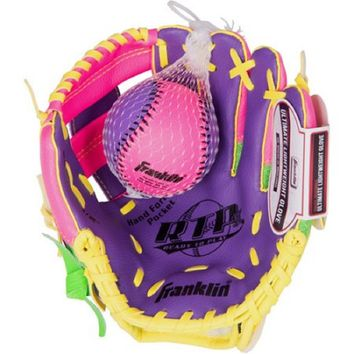 """Franklin Sports 9.5"""" Tee Ball Recreational Glove with Ball"""