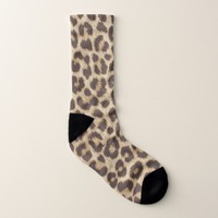 Leopard Print All-Over-Print Socks