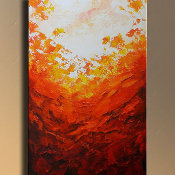 Original Modern Abstract PAINTING Textured Contemporary Fine Art with lava colors wall decor for your home