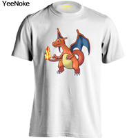 Pokemon Charizard Mens & Womens creative T Shirt Personalized Tee